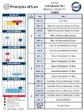 Principles of Law Year End Calendar
