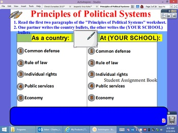 Principles of Political Systems Flipchart