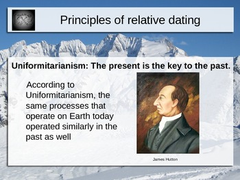 Principles of Relative Dating Power Point