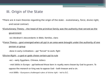 Principles of U.S. American Government - from McGruder Ch 1 Sec 1