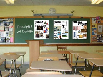 Principles of Design Posters Art Classroom Set of 7 Handouts Large Block Posters