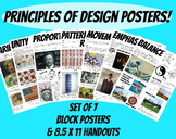 Principles of Design Posters Art Classroom Set of 7 Handou