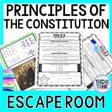 Principles of the Constitution ESCAPE ROOM: U.S. Constitution -  Print & Go!