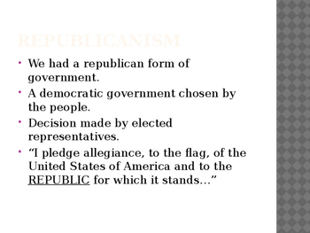 Principles of the Constitution PowerPoint