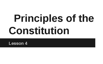 Principles of the Constitution part 1