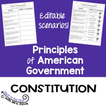 Principles of the U.S. Constitution Scenarios