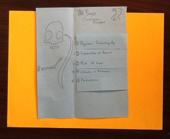 Mr. Bones' Principles of the U.S. Constitution (The Best Foldable Ever)