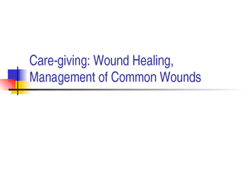 Principles of wound care