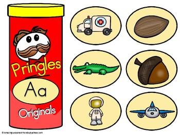 Pringles Alphabet Matching Chips