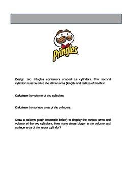 Pringles Cylinder Surface Area/Volume Task