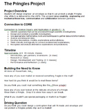 Project Based Learning: The Pringles Project (Engineering/