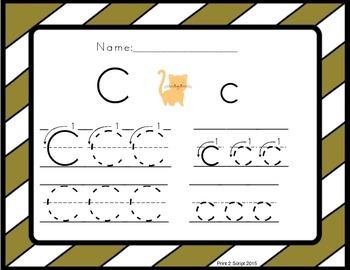 Print 2 Script ABC Handwriting