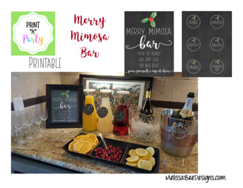 Print*A*Party Merry Mimosa Bar