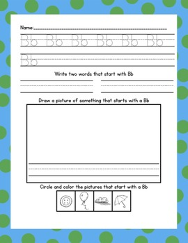 ABC Morning/Literacy Center Worksheets {Print}