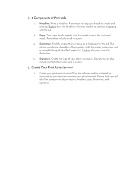 Print Advertisement Example