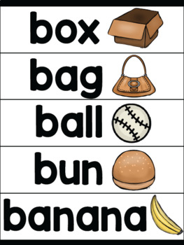 Print Alphabet Anchor Charts With Word Wall