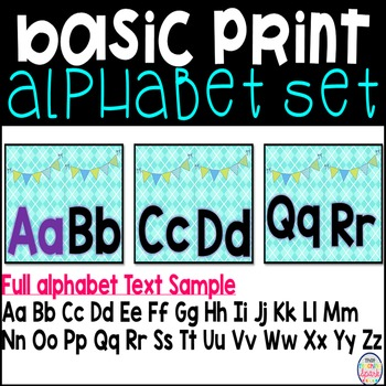 Print Alphabet Bulletin Board Set