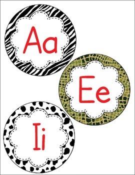 Print Alphabet Letter Circles - Editable