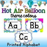 Print Alphabet Mini-Posters - HOT AIR BALLOON COLORS Themed