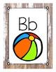 Print Alphabet Posters Weathered Wood Theme