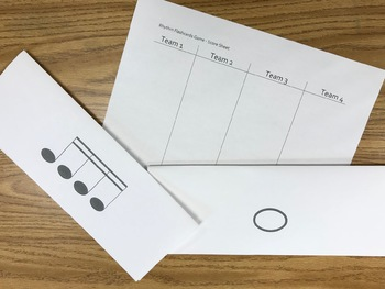 Print-And-Go Rhythm Flashcards - 1st Grade to Adult Music - Great for Sub, too!