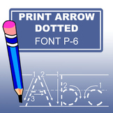 Print Arrow Dotted Font