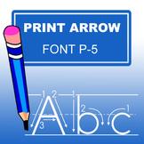 Print Arrow Font