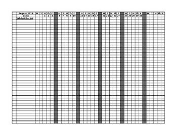 print attendance sheet by erica jones teachers pay teachers