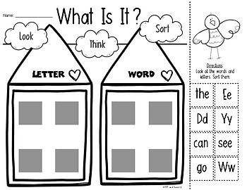 Print Awareness {Letter or Word} for Kindergarten & First Grade Remediation