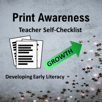 Print Awareness--Teacher Checklist for Offering a Variety in the Classroom