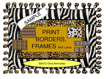 Print Borders, Frames and Labels