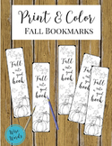 Print & Color Fall Bookmarks