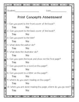 Print Concept Assessment