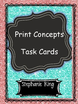 Print Concept Task Cards