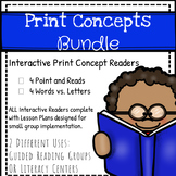 Print Concepts Bundle: Interactive Readers for Print Awareness