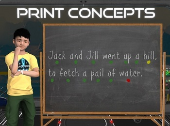 Print Concepts Sentence Construction Poster FREE