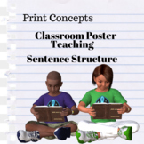 Print Concepts | Sentence Construction Poster - FREE