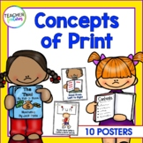 Print Concepts | Kindergarten | Preschool | Posters for Emerging Readers