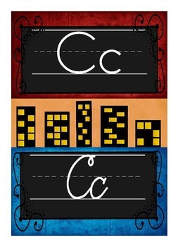 Print & Cursive Alphabet Line