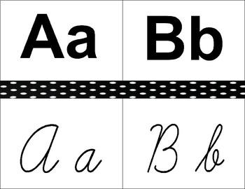 Print / Cursive Alphabet Poster