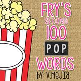 Print & Cut Fry's Second 100 Sight Words