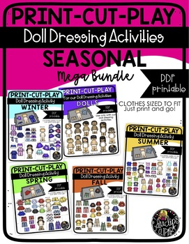Print Cut Play - All Seasons - Doll Dressing Activity