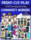 Print Cut Play - Community Workers - Doll Dressing Activity Book