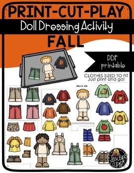 Print Cut Play - FALL-AUTUMN - Doll Dressing Activity