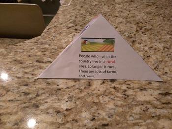 Print, Cut, and Fold Pyramid: Rural, Urban, Suburban