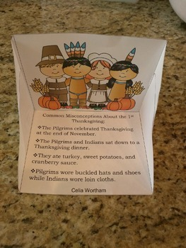Print, Cut, and Fold: Thanksgiving Misconceptions Diorama
