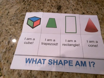 Print, Cut, and Fold: What Shape am I? Flip Book