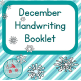 Print December Writing Practice Word Booklet