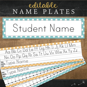 Print Desk Name Plates : Editable Desk Strips