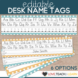 Desk Name Plates : Editable Desk Strips